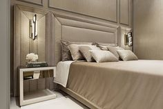 The bedroom and bathroom merge into one seamless space dedicated to rest and relaxation, thanks to the Academy collection from the Bathroom Luxury line.