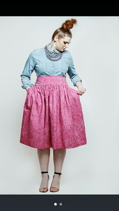 f7b8a6eadfd JIBRI Plus Size High Waist Flare Skirt Pinktrix by jibrionline