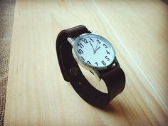 Wrist Watches – Sale Leather Watches minimal watches modern watch – a unique product by ishomestudio on DaWanda