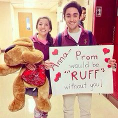 How could you say no to a promposal with a stuffed animal pun? Cute Homecoming Proposals, Homecoming Posters, Hoco Proposals, Formal Proposals, Prom Invites, Cute Promposals, Asking To Prom, Homecoming Asking Ideas, Dance Proposal