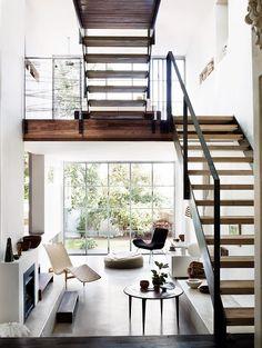 wood - glass - light
