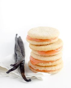 Vanilla Bean Strawberry Shortbread Sandwich Cookies by sophistimom