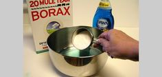 You might need to add more warm water to dissolve the borax.w