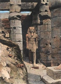 Luxor Temple Ramses II statue (1800's)