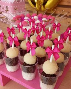 Ideas for succulent wedding cupcakes simple Party Sweets, Candy Party, Party Cakes, Barbie Birthday, Barbie Party, Wedding Cupcakes, Mini Cupcakes, Succulent Wedding Cakes, Chocolate Bonbon
