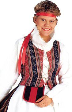 Suomalaiset kansallispuvut Folk Costume, Costumes, Finland, Traditional, Beauty, Dresses, Fashion, Vestidos, Moda