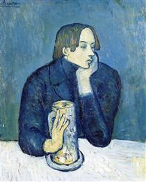 Portrait of Jaime Sabartes (The bock) - Pablo Picasso