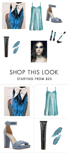 """""""Jack Frost"""" by hzmwilcox ❤ liked on Polyvore featuring Ashish, Nine West and Laura Geller"""