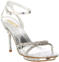 £29.99  Shoehorne Joyce-02 - Womens Silver Sparkling Rhinestone/Diamante Toe Strap High Heeled Evening Bridal Party Sandals - Avail in Ladies Shoe Size 3-8 UK: Amazon.co.uk: Shoes & Accessories