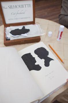 Such a cute idea! Silhouette Guest Favors!