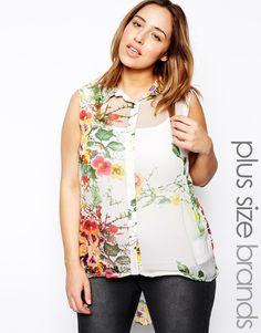 9175238329dde AX Paris Plus Size Floral Print Shirt Jada Sezer