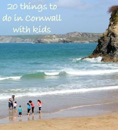 Family at the beach on Cornwall - one of my 20 things to do in Cornwall with kids