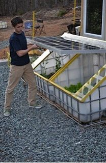 Beautiful Backyard Garden Solar Double Cropping - Making a cold frame using a partial-shade solar panel - Mother Earth News Fair Permaculture, Garden Beds, Vegetable Garden, Ibc Tank, Buy Greenhouse, Hydroponic Supplies, Hydroponics System, Aquaponics Diy, Aquaponics Greenhouse