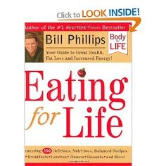 Most my healthy recipes are in this book! After bariatric surgery, my surgeon uses this recipe book with all of his patients. Each is so easy, delish, and always comes out fantastic. Eating for Life, Bill Phillips.