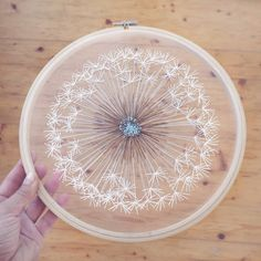 To make this dandelion took me lots of time and i'm not sure should i stitch one more dandelion of such a big size? Anyone interested 🤔? . .. ... #embroideryontulle #makeawish #dandelion #dandelionembroidery #handembroidery #botanicalembroidery #hoopart #embroideryartist #dandeliongift #bohemianstyle #bohogirl #hippiestyle #wallart #midcenturymodern #etsyshop #velvetmeadow