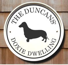 Dachshund Dog Breed Address Sign / Doxie by AddressPlaquesPlus