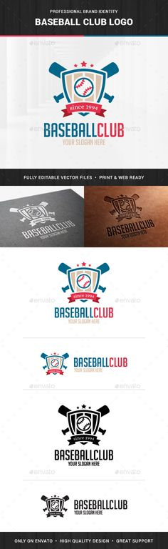 Baseball Club Logo Template — Transparent PNG #club #shield • Available here → https://graphicriver.net/item/baseball-club-logo-template/13930314?ref=pxcr