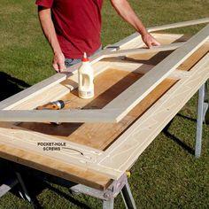 "DIY Shed Building Tips Build Economical ""Sandwich"" Doors – DIY Storage Shed Building Tips: www."