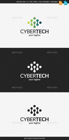 Cyber Tech Logo Tempalte #design #logotype Download: http://graphicriver.net/item/cyber-tech-logo-template/11129826?ref=ksioks