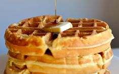 Waffles are one of the greatest foods ever invented. Whether you like them crispy or soft, sweet or savory, these delicious treats are always a pleasure to eat. Here are a few of my favorite waffle recipes to help you celebrate these marvelous morsels! Hotel Waffle Recipe, Waffle Batter Recipe, Waffle Recipes, Copycat Recipes, Homemade Waffles, Homemade Desserts, Delicious Desserts, Yummy Recipes, Recipies