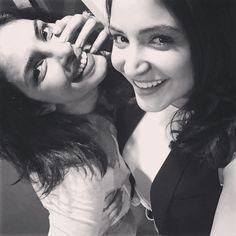 Priyanka Chopra and Anushka Sharma posing for a selfie at IIFA2015.