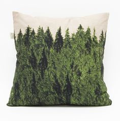 paint fabric like trees, make up a filling of cotton and pine mulch/needles.. voila! forest pillow :)
