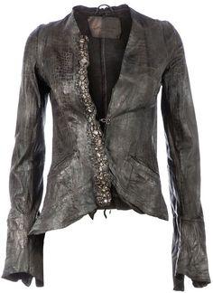 Le Cuir Perdu embellished leather jacket