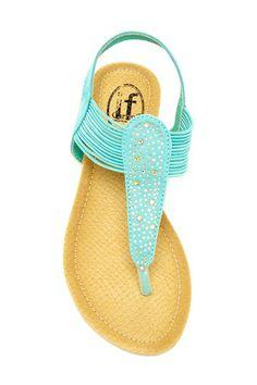 Carrini Rhinestone Wedge Sandal