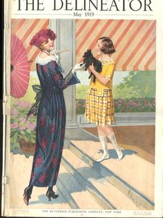 An adorable girl's dress from the cover of the May 1919 issue of The Delineator magazine.