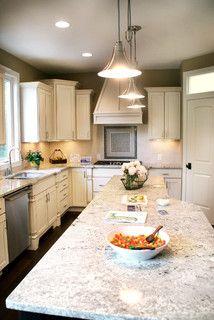 Granite Kitchen - contemporary - kitchen - detroit - by Green Apple Design  Bianco Romano Granite