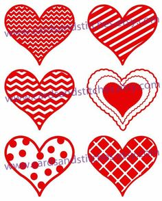 This Hearts with Patterns Digital Cutting File can be used for all your crafting needs. These hearts can be used for Valentines Day, Weddings, and more.
