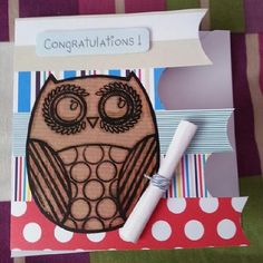 A little congratulations card I made for my brother last year after A level exams. Really love this card and making this......