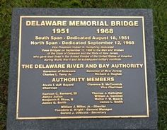 Delaware Memorial Bridge Marker. Click for full size.
