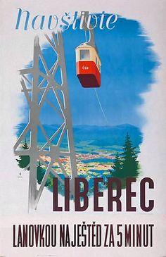 Navstivte | Liberec | Vintage travel poster |