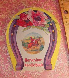 Vintage Equestrian Needlecase Horseshoe by vintagesparkles on Etsy, $25.00