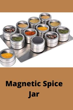 Is your kitchen cluttered with your spices? Do these take massive space in your cooking place? You're in the right spot to get the best solution! Keep your spice jars organized with this incredible Magnetic Spice Jar that gives you easy access to the spices. You can stick the jars to your fridge or steel back-splash, and save your kitchen space. Much easier to find precisely which spice you're looking for! #hexagon magnetic spice jars diy#magnetic spice rack diy mason jars#diy magnetic glass… Magnetic Spice Jars, Kitchenware Set, Diy Spice Rack, Mason Jar Diy, Easy Access, Clutter, Magnets, Kitchen Ideas, Coffee Maker