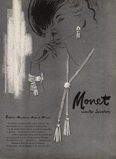 Monet (Jewels) 1949 Bracelet Necklace Art deco