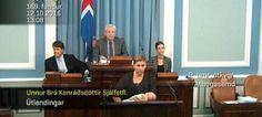 Βουλευτής στην Ισλανδία ανέβηκε στο βήμα της Βουλής ενώ θήλαζε το μωρό της [βίντεο]