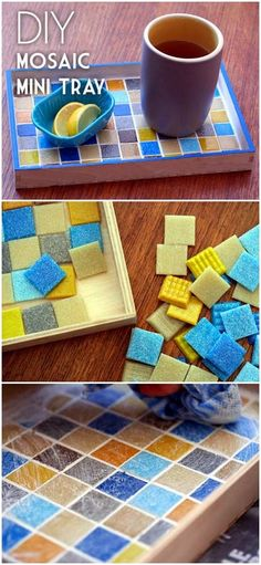 Check out this easy tutorial on how to make a #DIY mosaic mini tray. Love it! #HomeDecorIdeas @istandarddesign