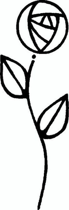 black and white rennie mackintosh rose - Google Search