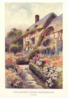 Anne Hathaway's Cottage, Stratford-on-Avon, by E W Haslehust  1920