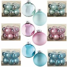 Image result for Pastell Weihnachtskugeln