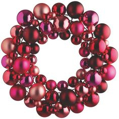 ANNGARSK Pink Christmas wreath (5180 RSD) ❤ liked on Polyvore featuring home, home decor, holiday decorations, glass home decor and pink home decor