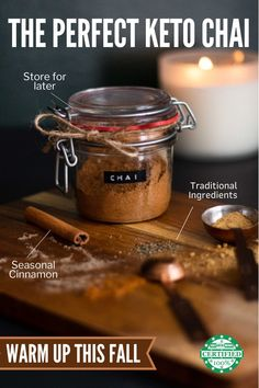 Warm up this Fall with the perfect low carb and keto chai tea recipe. With the best seasonal spices and traditional Indian ingredients you'll add a tasty twist to this Fall season. #ketodrinkrecipes Keto Dessert Easy, Keto Desserts, Keto Snacks, Tea Recipes, Drink Recipes, Low Carb Recipes, Low Carb Drinks, Healthy Drinks, Sugar Free Drinks