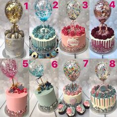 Balloon cakes have totally dominated my year.I did a post similar to this April (swipe across) I feel like iv done so many different… 19th Birthday Cakes, 13 Birthday Cake, Birthday Cake For Husband, Birthday Cake Decorating, Cake Decorating Supplies, Cake Decorating Techniques, Birthday Ideas, Cupcakes, Cupcake Cakes