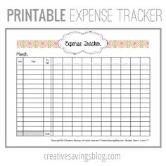 this free printable expense tracker keeps tabs on all your spending