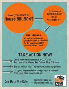 One State. One Rate. Take action now for education equality in North Carolina! #education #nc #action