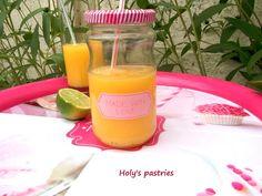 Gourmandises au parfum de Madagascar: Smoothie eau de coco, mangue et citron vert