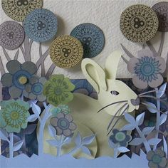 Paper rabbit by Helen Musselwhite
