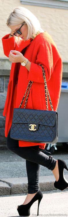 54 Trendy Fashion Street Plus Size Chanel Bags Beautiful Bags, Beautiful Outfits, Beautiful Clothes, Moda Chanel, Chanel Chanel, Chanel Purse, Look Fashion, Womens Fashion, Fashion 2014